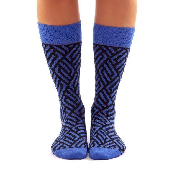 Calcetines de rombos azules kalcetines