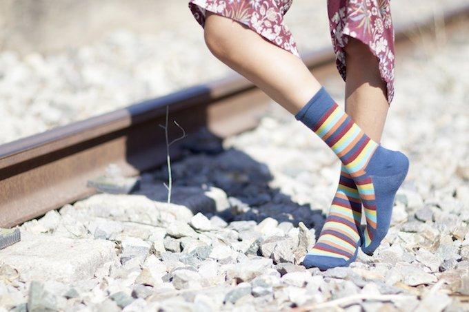 calcetines de rayas de colores kalcetines