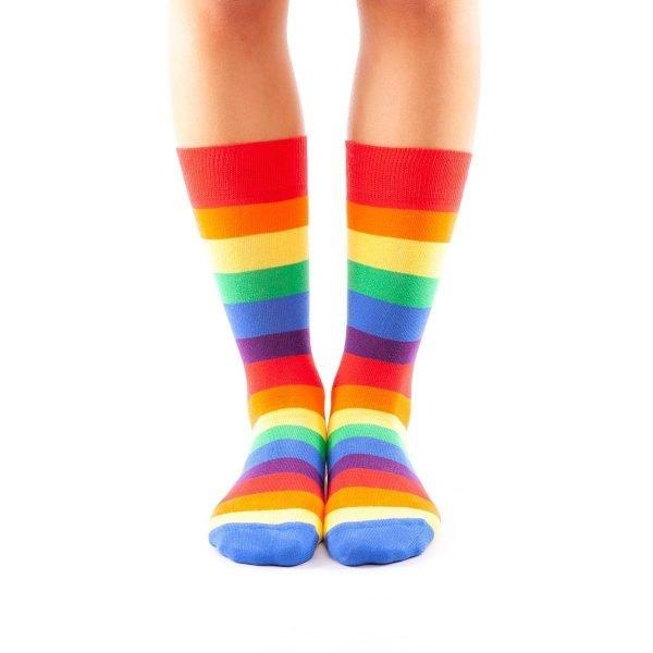 calcetines arcoiris frente