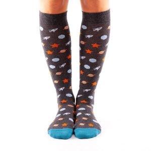 calcetines largos planetas frente