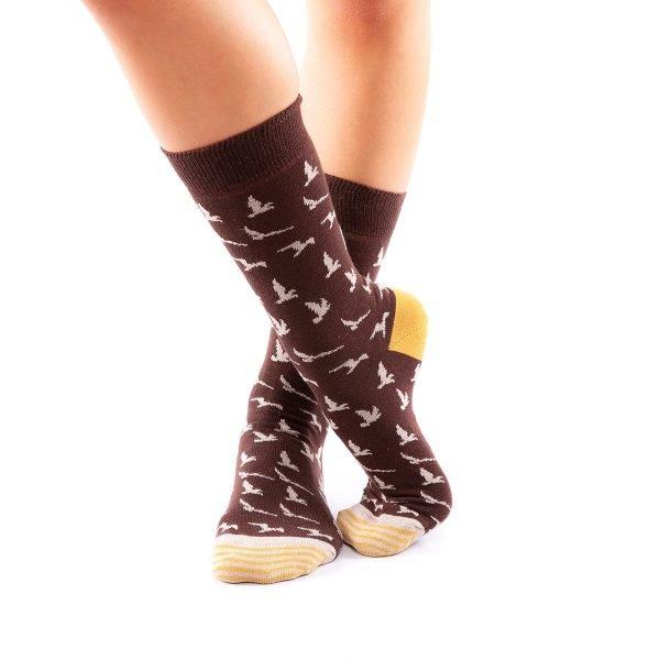 calcetines pajaros cruzado