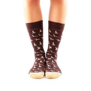 calcetines pajaros frente
