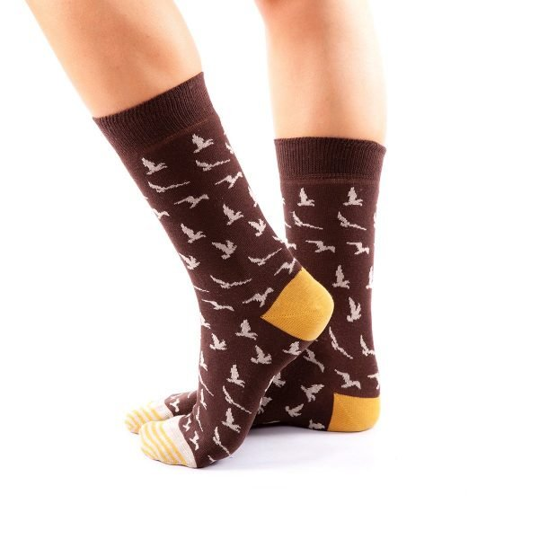 calcetines pajaros lateral