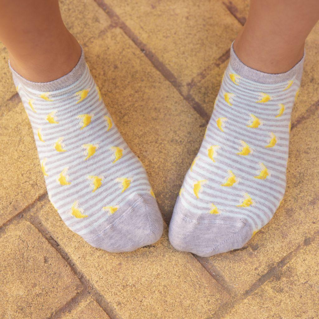 calcatines de platanos cortos tobilleros kalcetines