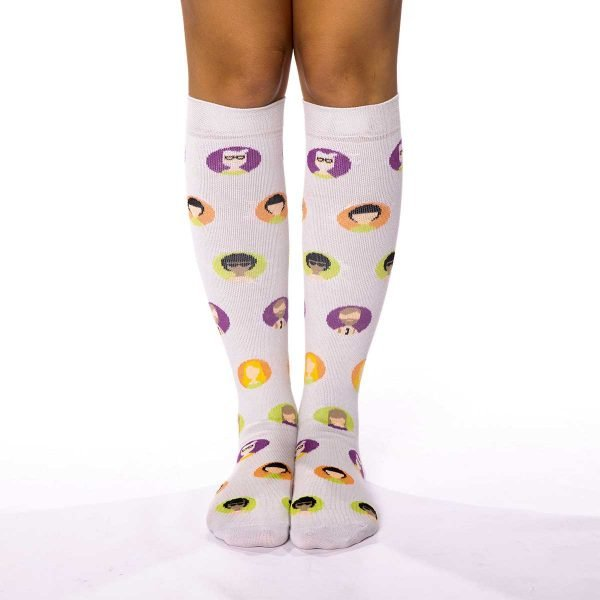 calcetines compresion caras hipsters kalcetines