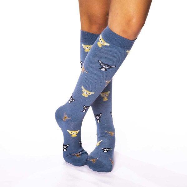 calcetines de compresion gatos kalcetines