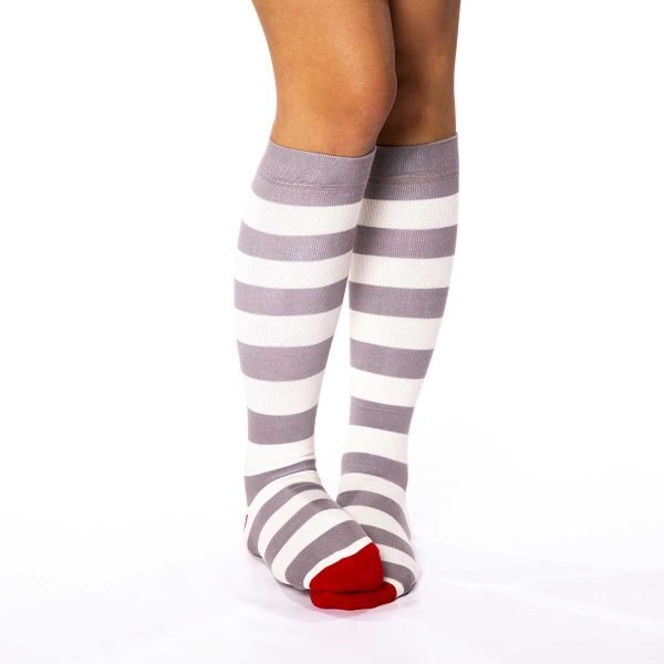 calcetines compresivos rayas grises gruesas kalcetin.es