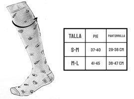 guia tallas calcetines compresivos