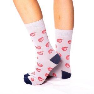 calcetines con motivos de gambas kalcetin.es