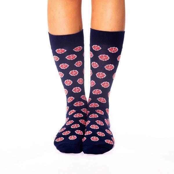 calcetines de motivos naranjas sanguinas kalcetin.es