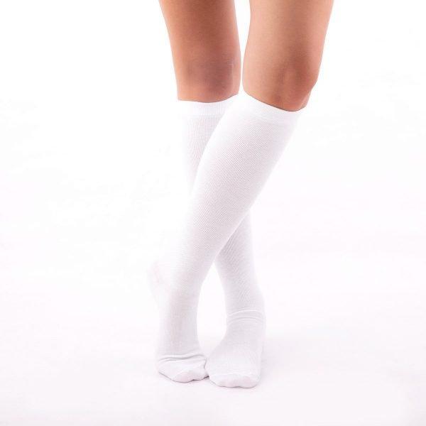 calcetines compresivos blanco kalcetin.es