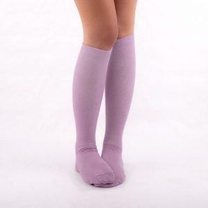 calcetines compresivos lilas kalcetin