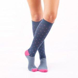 calcetines compresion puntos y rayas cruzado kalcetin