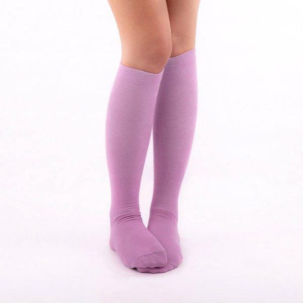 calcetines de compresion color malva lilas kalcetin.es casual
