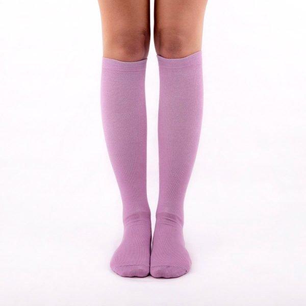 calcetines de compresion color malva lilas kalcetin.es frente