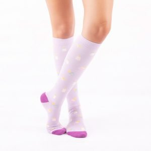 calcetines de compresion maternidad lilas kalcetin