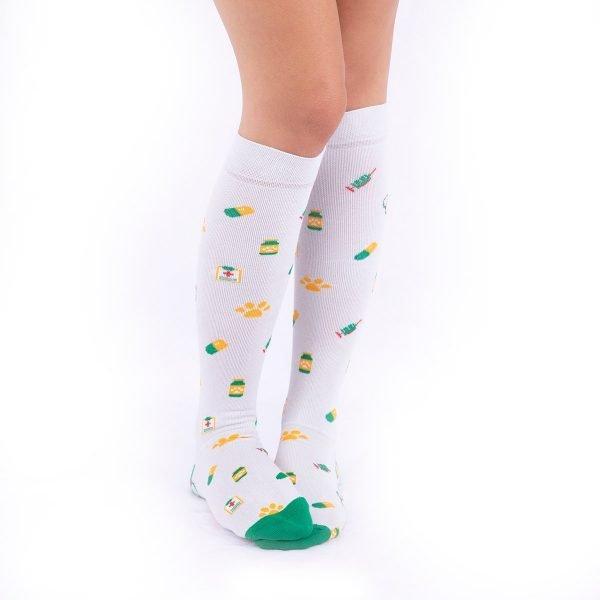 calcetines de compresion vaterinarios gris kalcetines