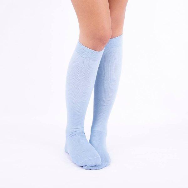 calcetines compresion azul claro casual kalcetin.es