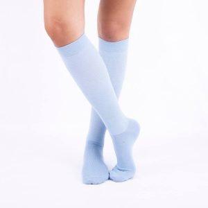 calcetines compresion azul claro cruzado kalcetines