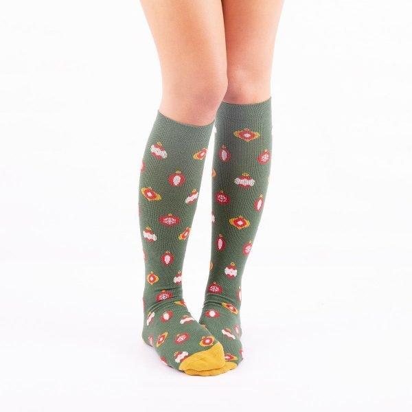 calcetines de compresion navidad