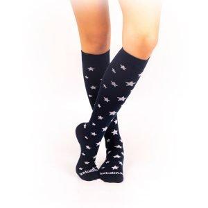 calcetines de compresion estrellas marino cruzado
