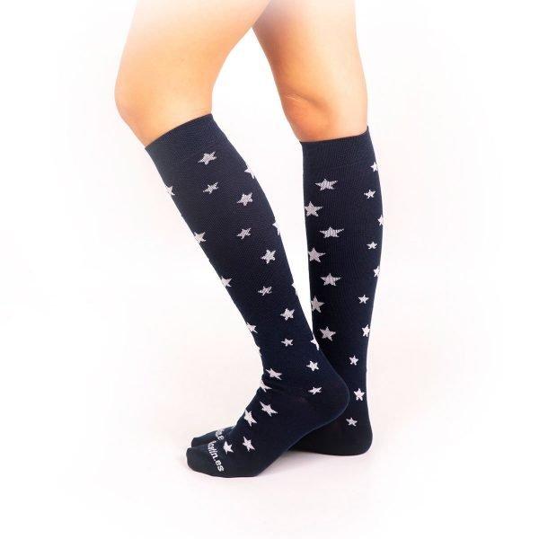 calcetines de compresion estrellas marino lateral