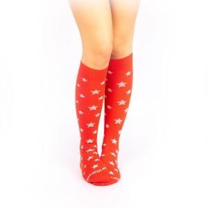 calcetines de compresion estrellas rojo casual