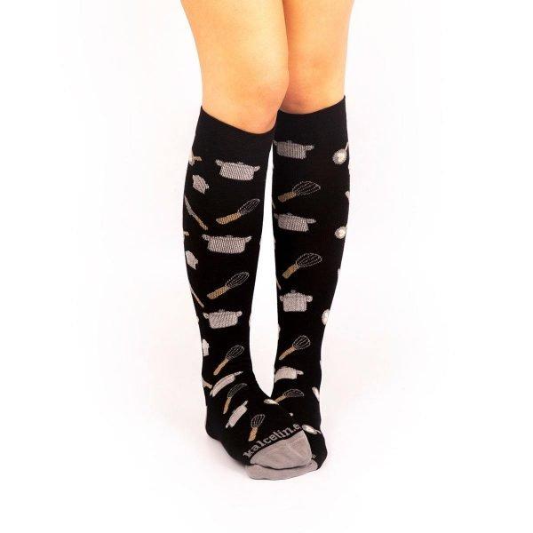 calcetines compresion cocineros negro