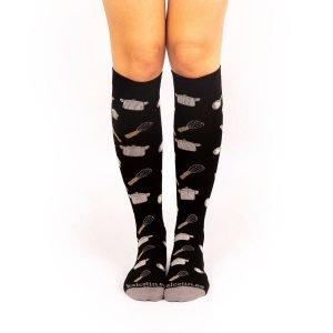 calcetines de compresion chef negros