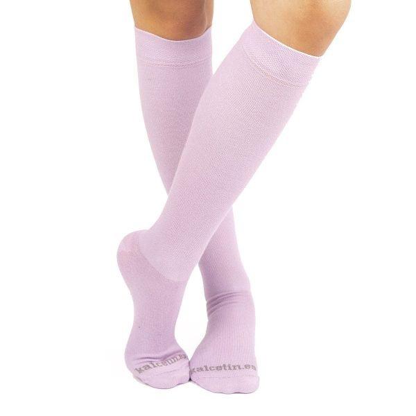 calcetines compresivos lila cruxado