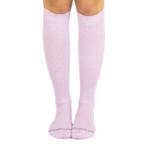 calcetines compresion lilas