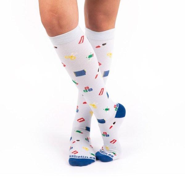 calcetines compresivos profesores cruzado kalcetin