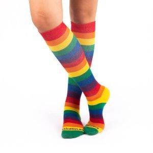 cacletines de compresion arcoiris bandera lgbti