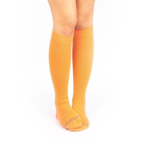 calcetines compresion naranja color liso kalcetin.es